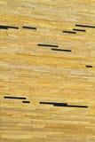砖现代纹理墙壁黄色 库存照片