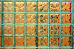 砖玻璃tranlucent墙壁 免版税库存图片
