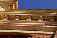 砖瓦房上部门面  免版税图库摄影