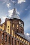 砖瓦房大教堂哥特式海岛加里宁格勒konigsberg预凝胶样式 免版税库存照片