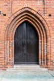 砖瓦房大教堂哥特式海岛加里宁格勒konigsberg预凝胶样式 库存图片