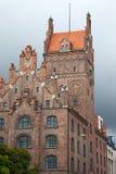 砖瓦房德国做慕尼黑老红色 图库摄影