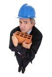 砖瓦房承包商 库存照片