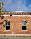 砖瓦房视窗 库存照片