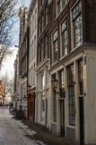 砖瓦房阿姆斯特丹 免版税库存图片