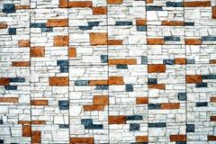 砖瓦片墙壁背景  免版税库存图片