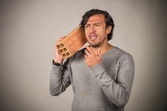 砖电话 免版税库存图片
