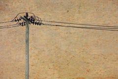 砖电过帐墙壁电汇 免版税库存图片