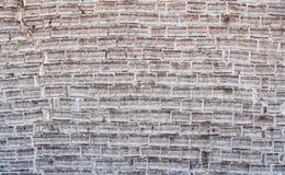 砖盐墙壁 免版税库存照片
