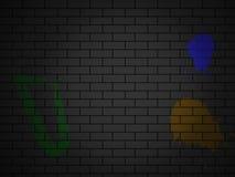 砖砖做红色向量墙壁 免版税库存照片