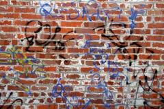 砖破旧的墙壁 免版税图库摄影