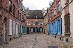 砖私有房子-里尔-法国 免版税库存照片