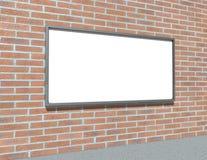 砖符号墙壁 库存例证