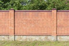 砖篱芭 库存照片