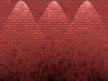 砖红色发光了墙壁 库存照片