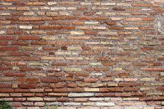 砖红色墙壁风化了 免版税图库摄影