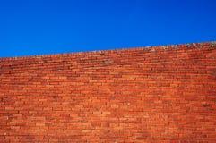 砖红色墙壁 免版税图库摄影