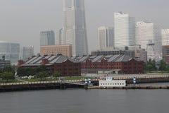 砖红色大商店横滨 图库摄影