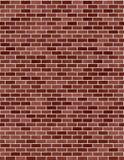 砖红色无缝的墙壁 免版税图库摄影