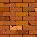 砖红色无缝的墙壁 皇族释放例证