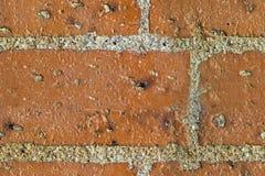 砖红色无缝的纹理 库存照片