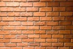 砖红色纹理墙壁 库存照片