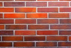 砖红色纹理墙壁 图库摄影