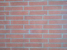 砖红色纹理墙壁 免版税图库摄影