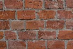 砖红色纹理墙壁 免版税库存照片