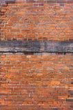 砖红色被加强的墙壁 库存图片