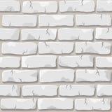 砖纹理墙壁白色 图库摄影