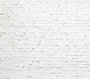 砖纹理墙壁白色 免版税库存图片