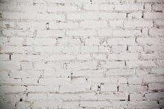 砖纹理墙壁白色 免版税库存照片
