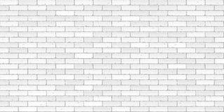 砖纹理墙壁白色 向量例证