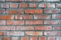 砖老墙壁 从葡萄酒红砖的砖墙 免版税库存照片