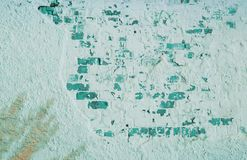 砖老墙壁 困厄的年迈的覆盖物纹理 免版税库存照片