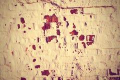 砖老墙壁 困厄的年迈的覆盖物纹理 库存照片