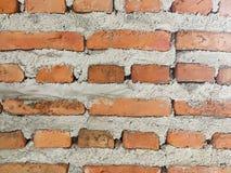 砖老墙壁 红色石块老纹理  免版税库存图片