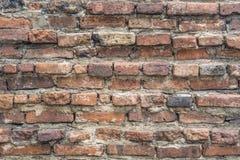 砖老墙壁 红色石块老纹理  库存照片