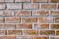 砖老墙壁 红色石块老纹理  图库摄影