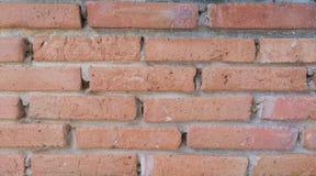 砖老墙壁 红色石块老纹理  免版税图库摄影