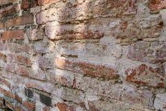 砖老墙壁 红色石块老纹理  库存图片