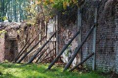 砖老墙壁 免版税图库摄影