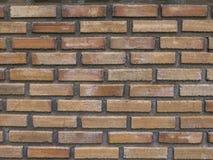 砖老橙色墙壁 免版税库存照片