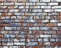 砖老油漆墙壁 免版税库存照片