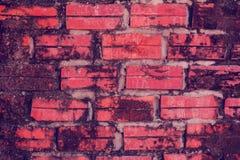 砖老红色墙壁 库存照片