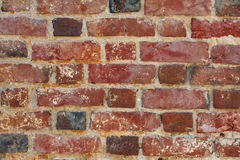 砖老红色墙壁 免版税图库摄影