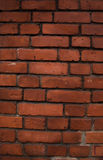 砖老红色结构墙壁 免版税图库摄影