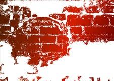 砖老被弄脏的墙壁白涂料 免版税图库摄影