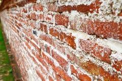 砖老透视图墙壁 库存图片